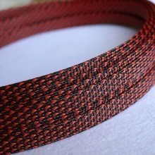 Deluxe High Density Weave Black/Red Cable Sleeve (10mm)