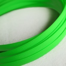 Deluxe High Density Weave UV Green Cable Sleeve (10mm)