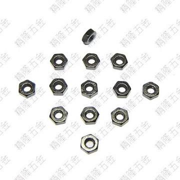 M2.5 Hex Lock Nut - Black Carbon Steel