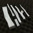 Silverstone SX600-G Premium Single Sleeved Modular Cable Set (White)